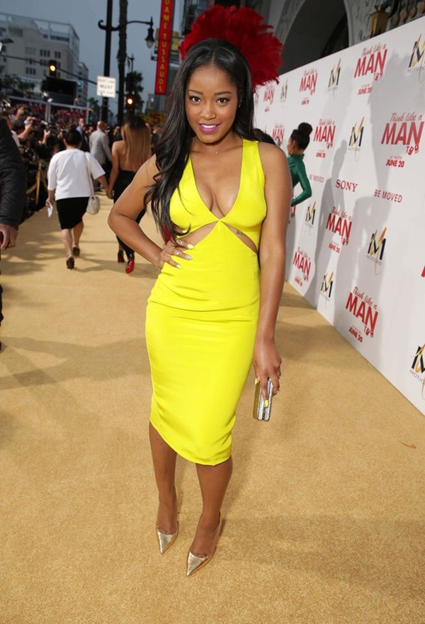 dress dress sexy dress nicedresses bright cut-out dress celebrity style yellow cut out underboob cutout summer dress yellow keke palmer cute dress cut out bodycon dress bodycon summer dress fancy