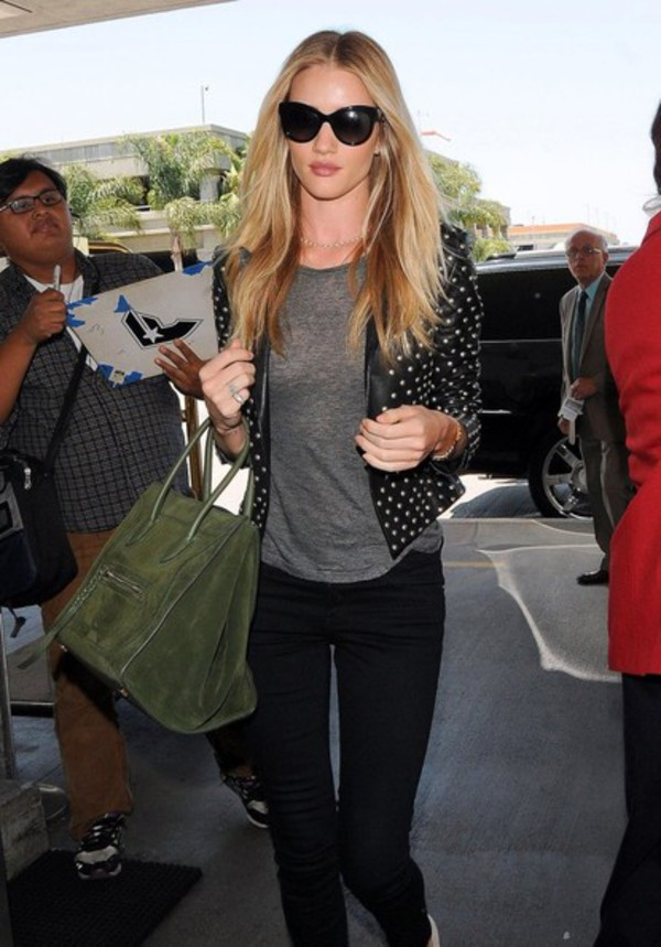 jacket rosie huntington-whiteley bag pants