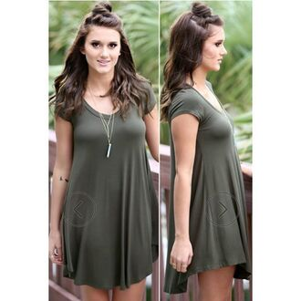 dress amazing lace casual casual dress boho olive green green dress