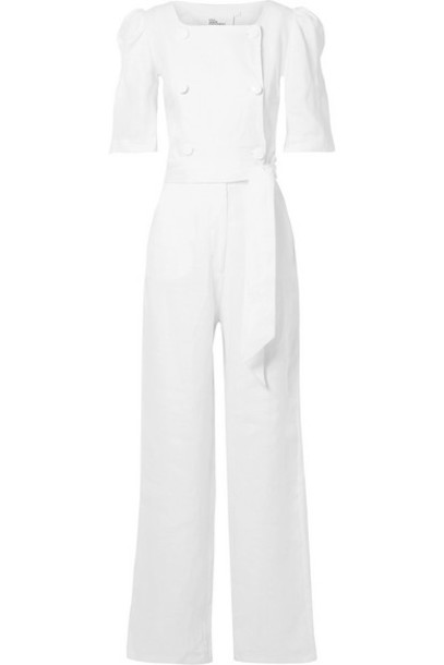 Lisa Marie Fernandez - Diana Double-breasted Linen Jumpsuit - White