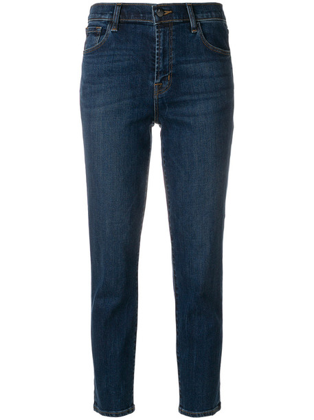 J BRAND jeans cropped jeans cropped women cotton blue