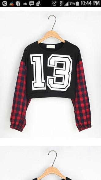 shirt black shirt 13 sleeves