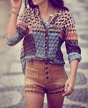shirt,hipster,shorts,blouse,orange,design,boho,festival,suede