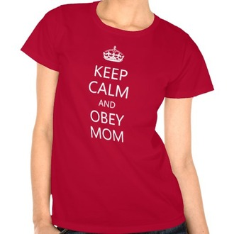 t-shirt red quote on it graphic tee keep calm mothers day gift idea