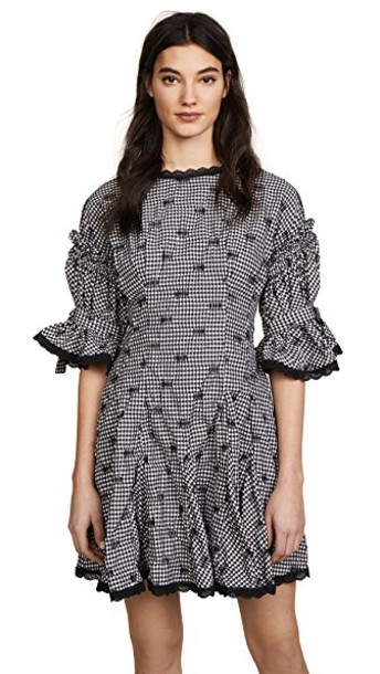 Jonathan Simkhai dress flare dress flare gingham black