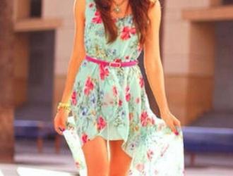summer outfits summer style dresses summer dress flowers print beach dress dropped waist cotton dresss cotton rib knitwear