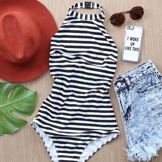 hat shorts swimwear