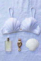 swimwear,zaful,clam swimwear,the little mermaid