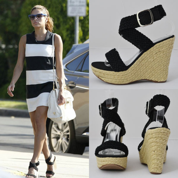 shoes, black espadrilles, eva mendes, loveshoppingmiami ...