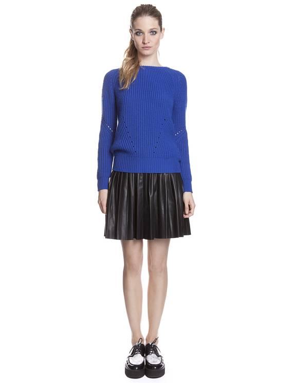 Pull Série Bleu électrique - Pulls & Cardigans Sandro - E-Boutique Officielle SANDRO / Collection Printemps-Été 2013 SANDRO