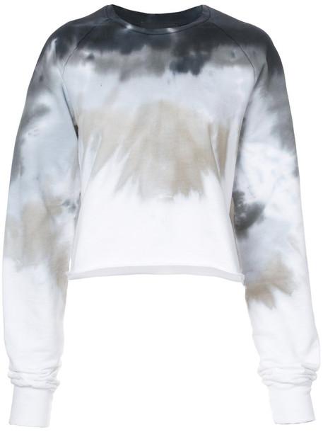 Baja East sweatshirt women cotton grey sweater