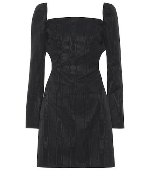 Ellery Paalen cotton-blend moiré minidress in black