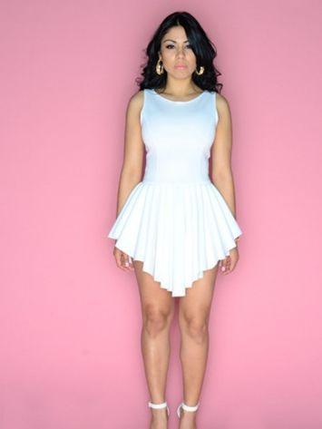 The new spring summer white bandage dress sexy eenschin mini sleeveless o-neck bodycon yq122 Club Dresses | Amazing Shoes UK