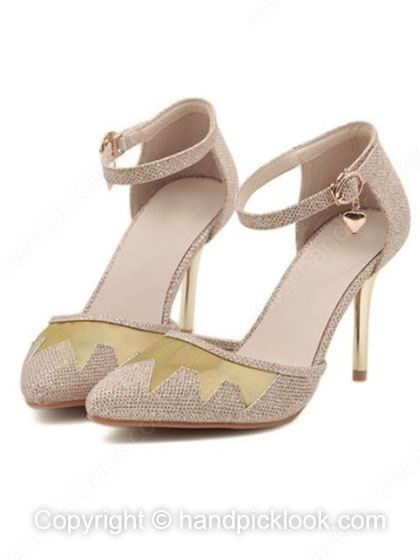Stiletto Heel Sandals Closed Toe With Ankle Strap Shoes ...