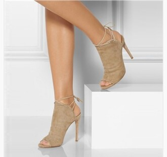 shoes taupe taupe pumps boots booties heels high heels tie up heels