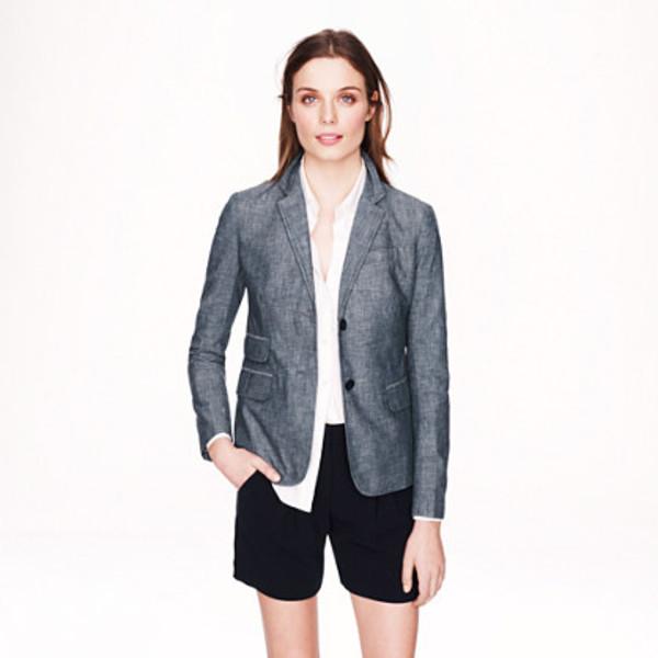 jacket schoolboy blazer in chambray blue blazer
