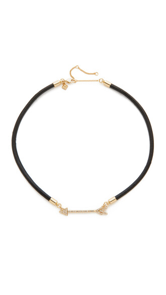 arrow necklace gold leather jewels