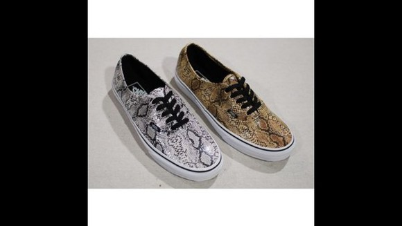 shoes brown grey snake print snake print vans