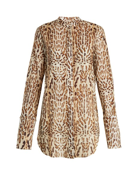Adam Lippes shirt cotton print animal top