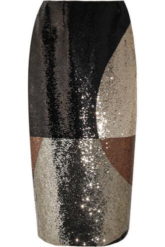 skirt brown satin