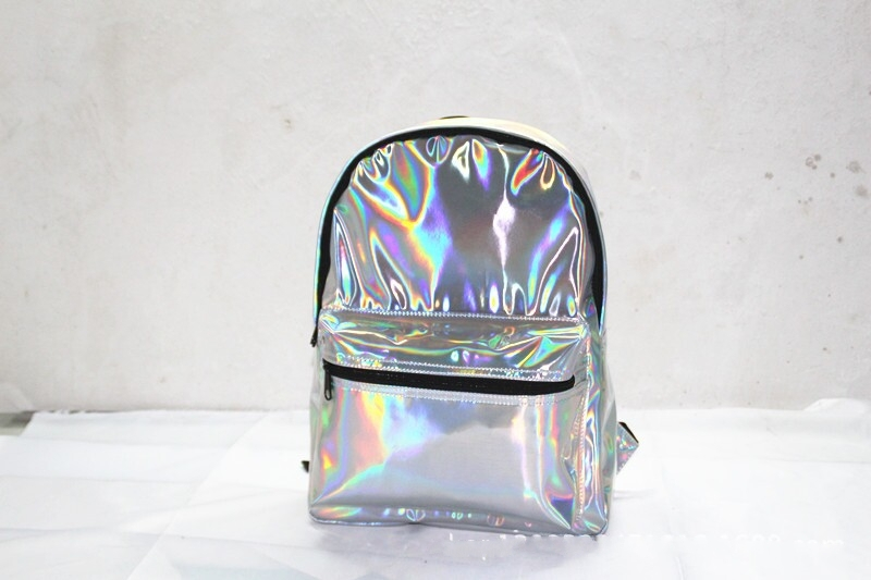 Aliexpress.com : Buy 2014 High Quality New Fashion Silver HARAJUKU Hologram Laser Backpack Female Student School Bag Women's Tote Bag from Reliable bag hardware suppliers on Online Store 935693