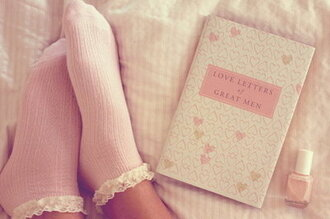 underwear socks pastel pink cloral floral flowers lace book love valentines day romantic