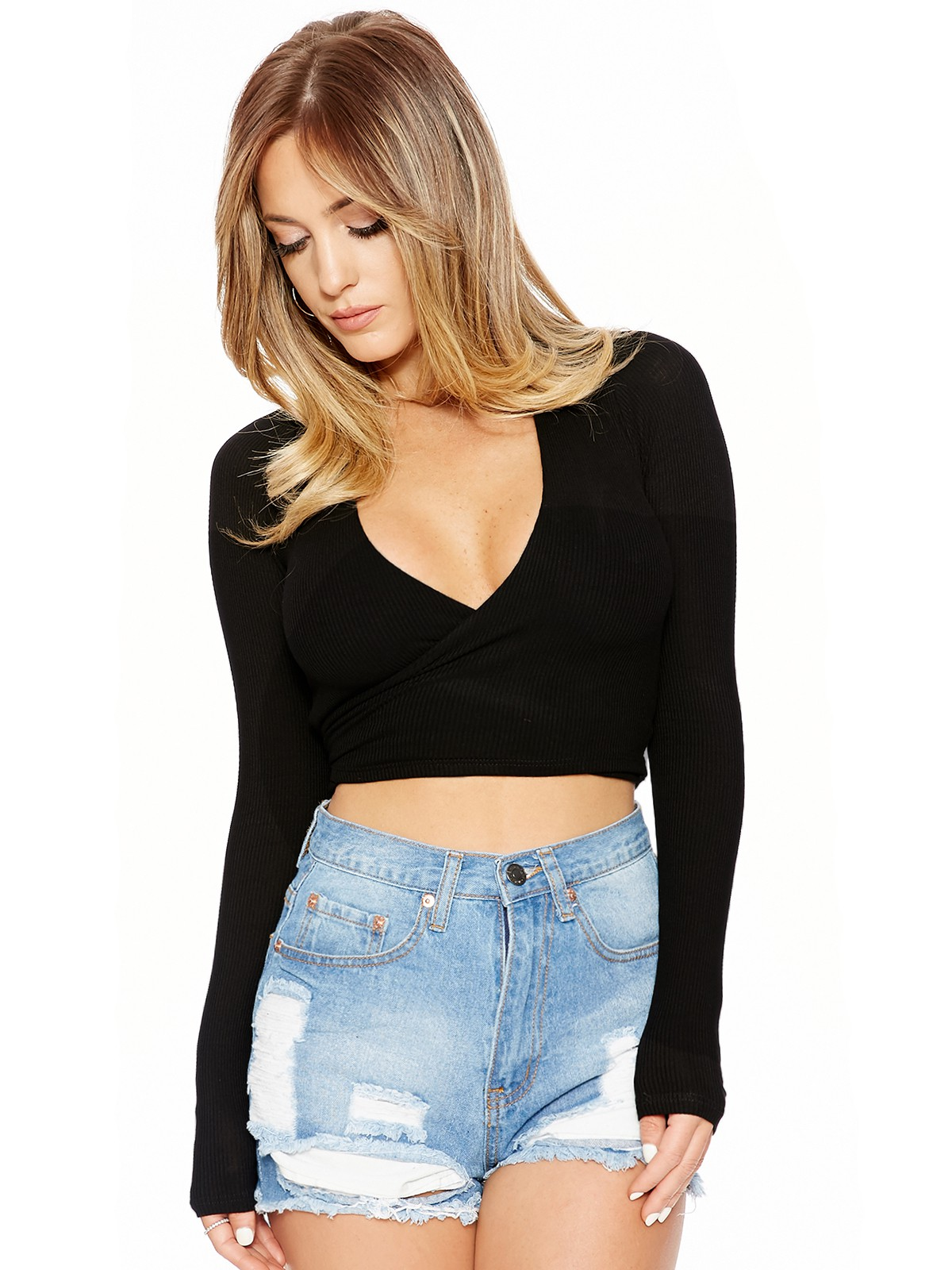 Tied Down To U Crop - Tops - Womens Nakedwardrobe