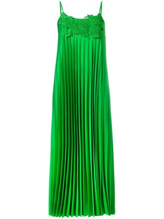 dress pleated dress pleated women green