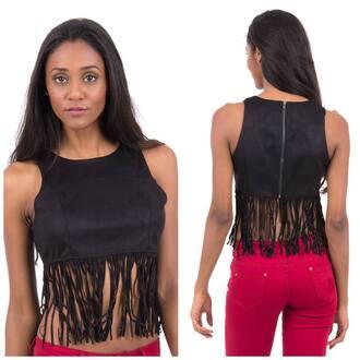 top black top black fringes