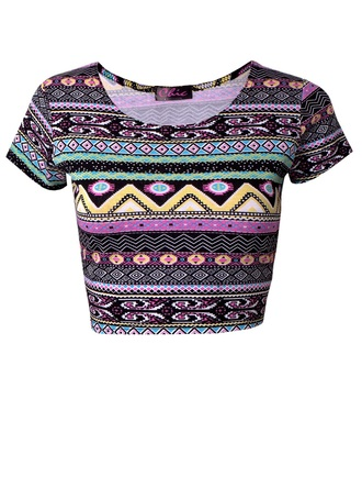 top aztec pattern colourful tight fashion