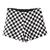 ROMWE | ROMWE Check Print Zippered Slim Shorts, The Latest Street Fashion