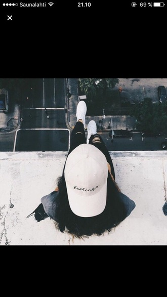 hat feelings snapback cap white baseball cap