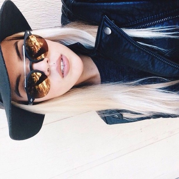 sunglasses boho boho chic hippie style summer outfits fashion dope tumblr tumblr girl accessories instagram tumblr sunglasses tumblr dashboard cool black silver glasses round sunglasses jacket leather jacket hat clothes