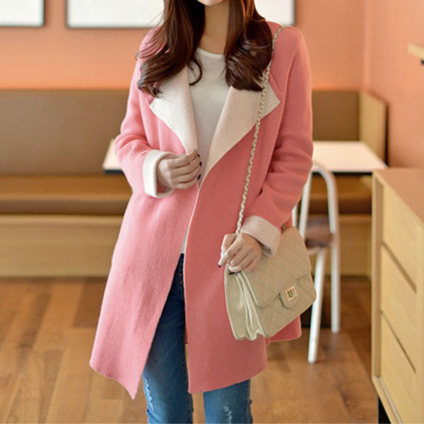coat lapel slimming sweet