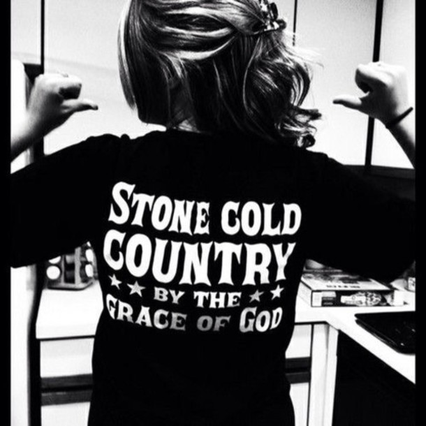 t-shirt shirt country grace of god country style