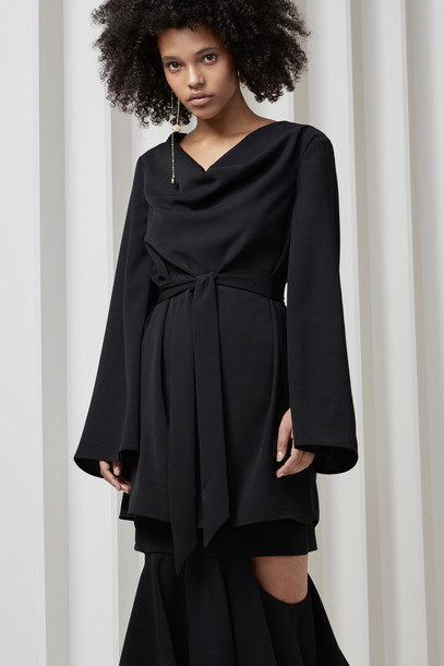 C/MEO COLLECTIVE dress long sleeve dress long black