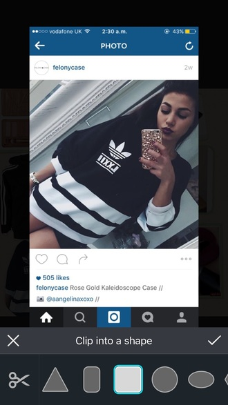 sweater adidas black white jumper
