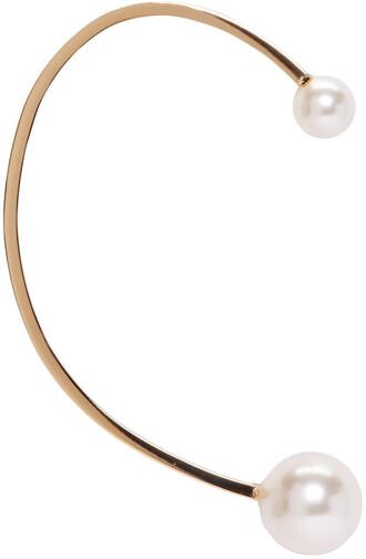 cuff pearl ear cuff gold jewels