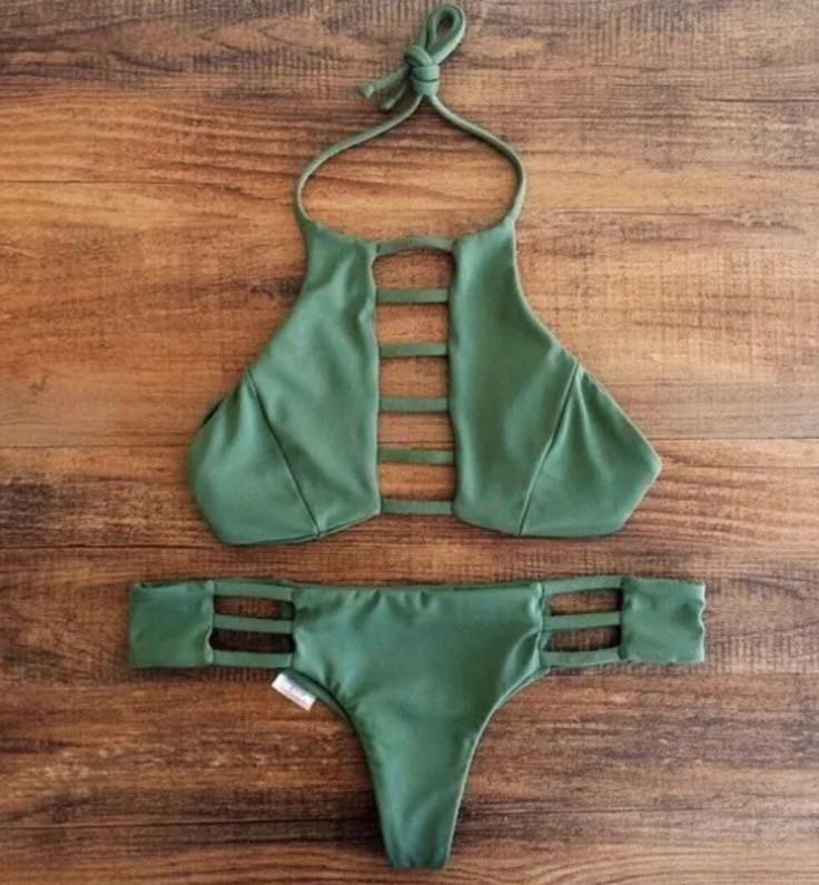 Bikini Swimsuit Set Army Green