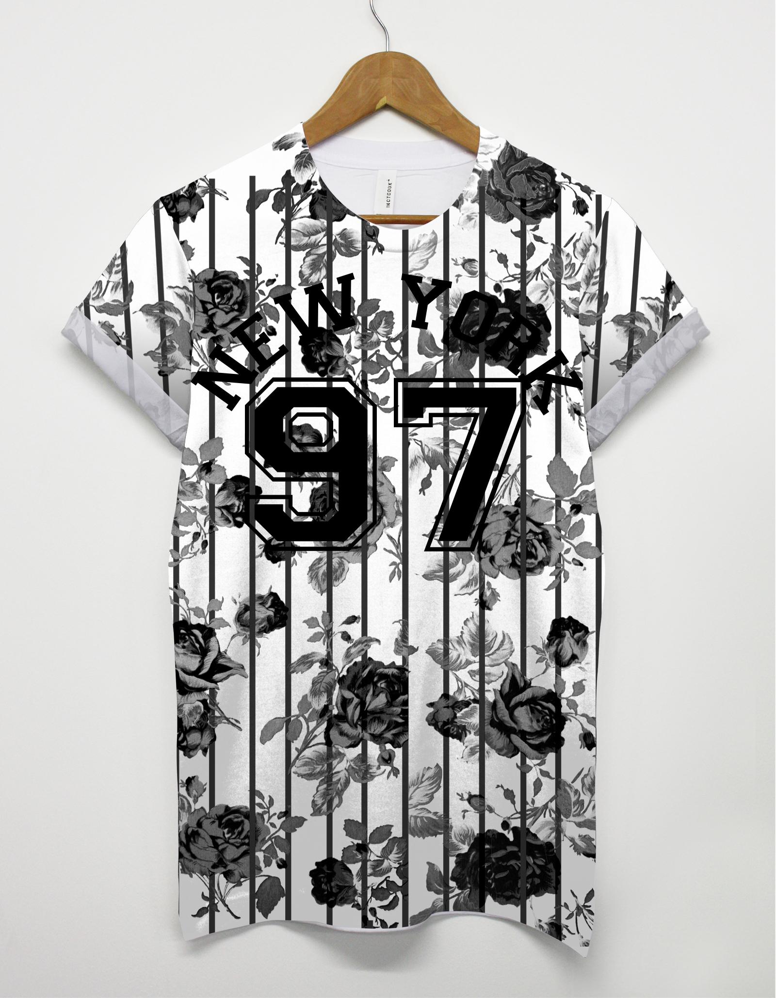 97 Flower New York All Over T Shirt