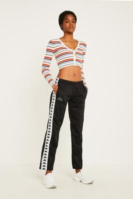 Kappa Astoria Black Popper Track Pants