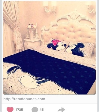 sweater minnie mouse mickey mouse cute bedding home accessory disney black white bedroom bed room set