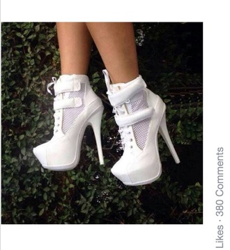 shoes white white high heels high-heels shoes platform platform boots platform heels platform shoes nice cute high heels ancle boots boots pretty girly girl acessories trendy