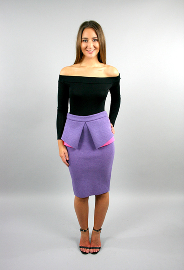 neon neon pink peplum peplum skirt peplum skirts party dress bodycon bodycon skirt purple skirt party skirt