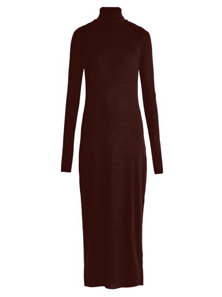 Raey dress knit burgundy