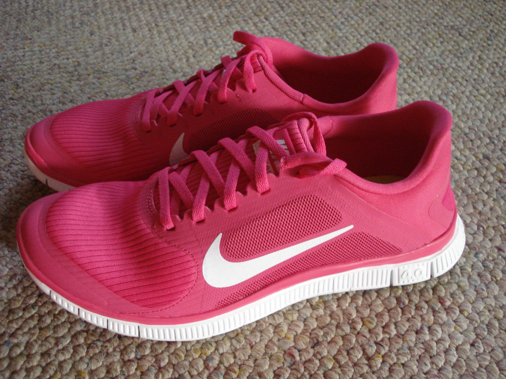 New Nike Free V3 4 0 Shoes Womens Sz 10 Pink Force White Running Run | eBay