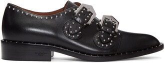 studded shoes black