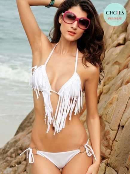 swimwear bikini white swimwear