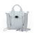 Mini Type Double Zipper Handbag in White [FCBI00515] - PersunMall.com