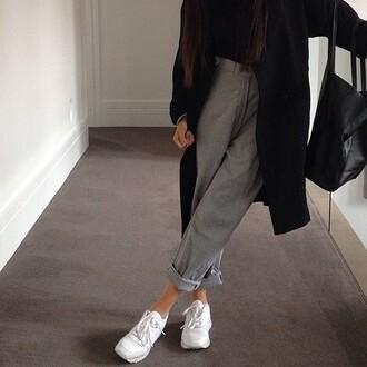 grey pants pantalon oversized pants grey pantalon